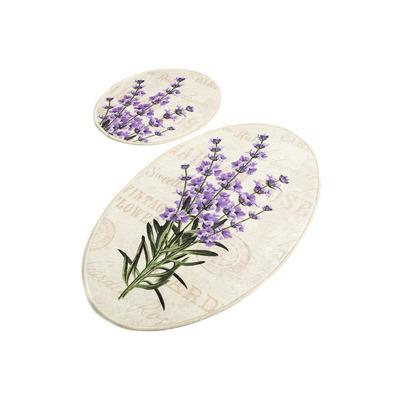 2-teiliges Badematten-Set Lavendel DJT I Mehrfarbig