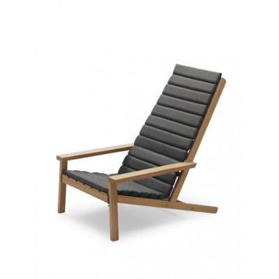 Kissen für Outdoor-Liegestuhl zwischen den Linien | Kohle