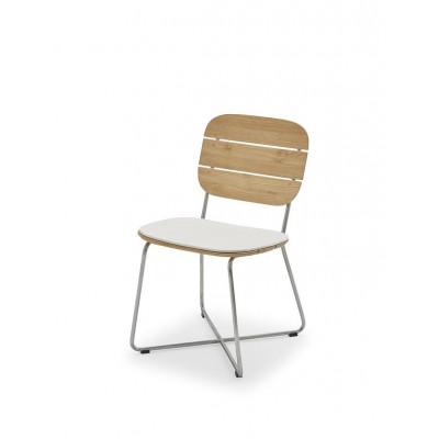 Outdoor Chair Cushion Lilium | White
