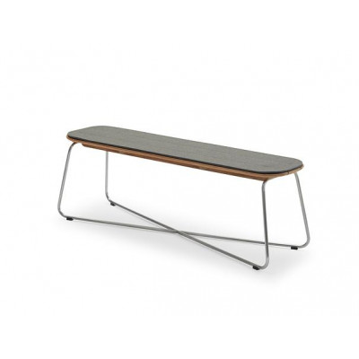 Outdoor Bench Cushion Lilium | Charcoal