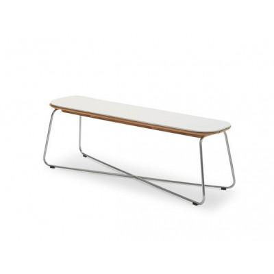 Outdoor Bench Cushion Lilium | White