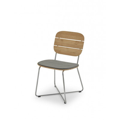 Outdoor Chair Cushion Lilium | Charcoal