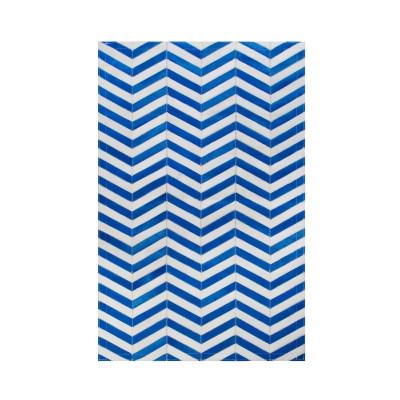 Leather Carpet | Arrow Blue