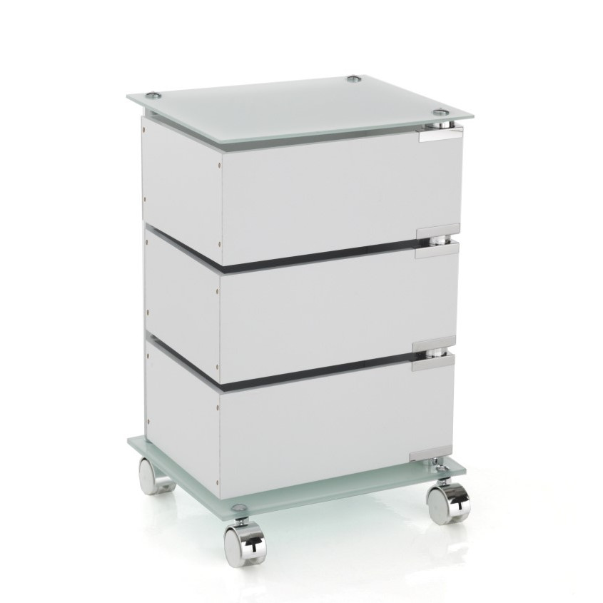 Chest of Drawers with Swivel Wheels Bobo H 58 cm