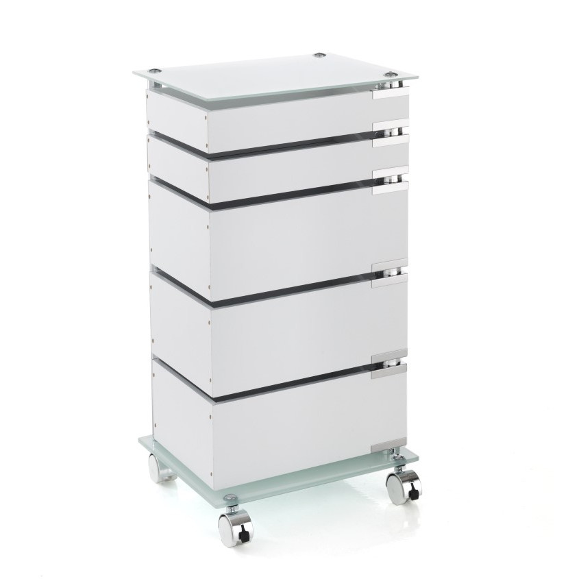 Chest of Drawers with Swivel Wheels Big Bobo H 74 cm