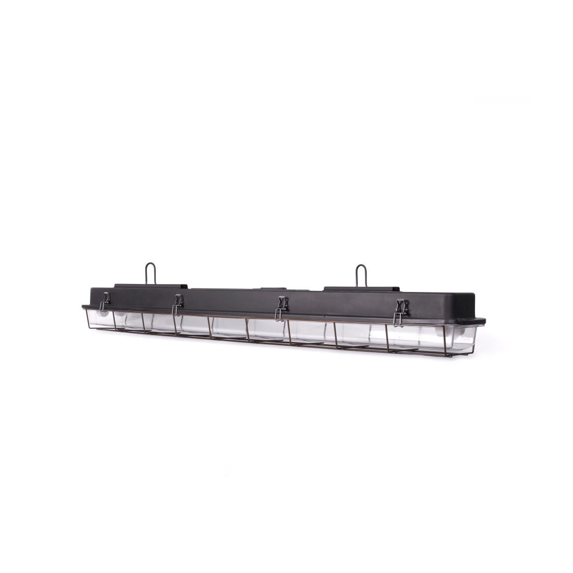 4 FT-Käfiglampe Industrielles Streifenlicht | Schwarz