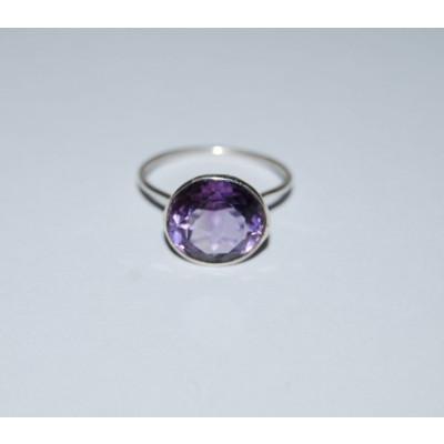 Purple Amethyst Stone Ring