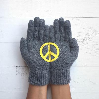 Handschuhe Peace   Stahl Grau