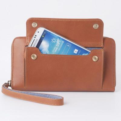 Smartphone-Geldbörse | Karamell
