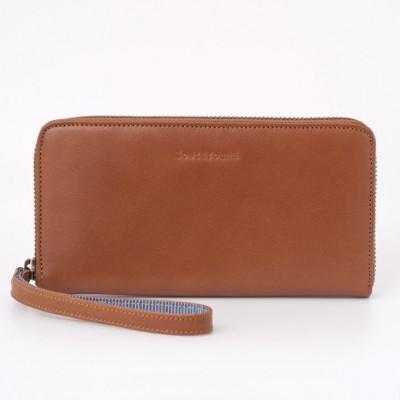 Brieftasche mit Reißverschluss | Karamell