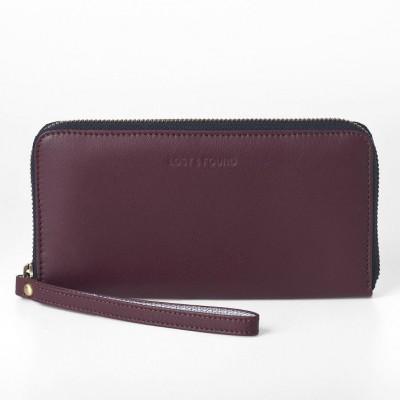 Zip Around Wallet | Burgundy