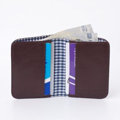 Brieftasche für Bargeld und Kreditkarten | Schokolade