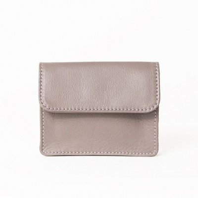 Coins & Credit Card Wallet | Pale Stone