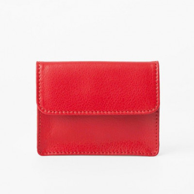 Coins & Credit Card Wallet | Tangerine Red