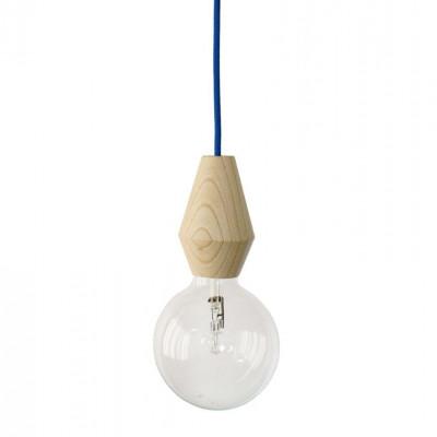 Weibliche Lampe - blaues Kabel