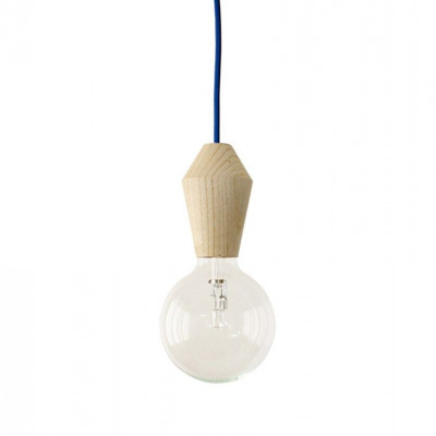 Männliche Lampe - blaues Kabel