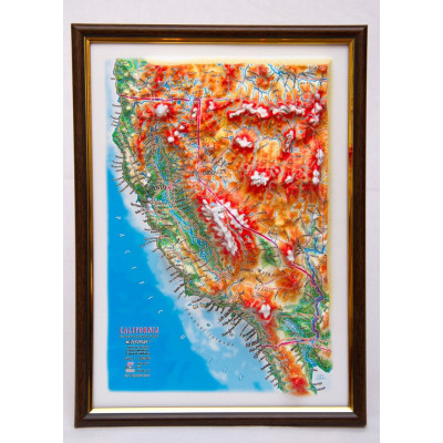 Decorative 3D Map with Panorama Effect Gift Edition   California
