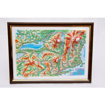 Decorative 3D Map with Panorama Effect Gift Edition   NY State