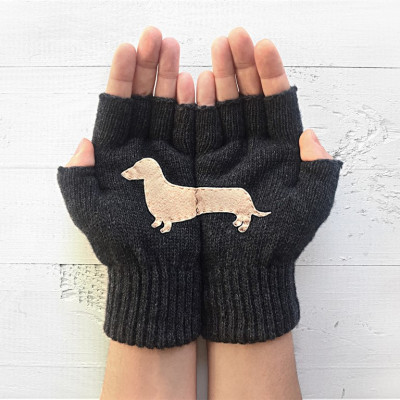 Handschuhe ohne Fingerspitzen Doxie   Dunkelgrau
