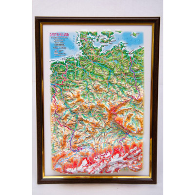 Decorative 3D Map with Panorama Effect Gift Edition   Germany