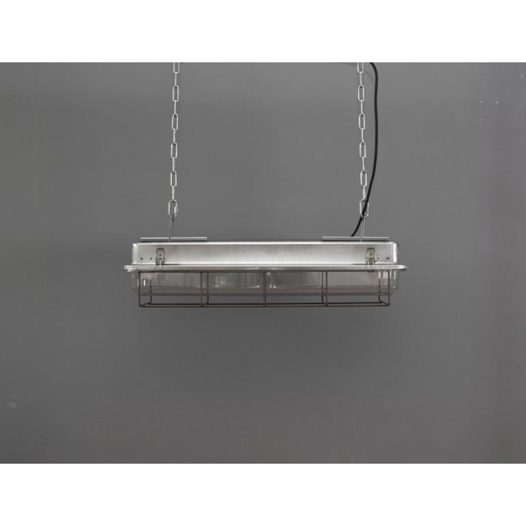 2 FT-Käfiglampe Industrielles Streifenlicht   Galvanisiert