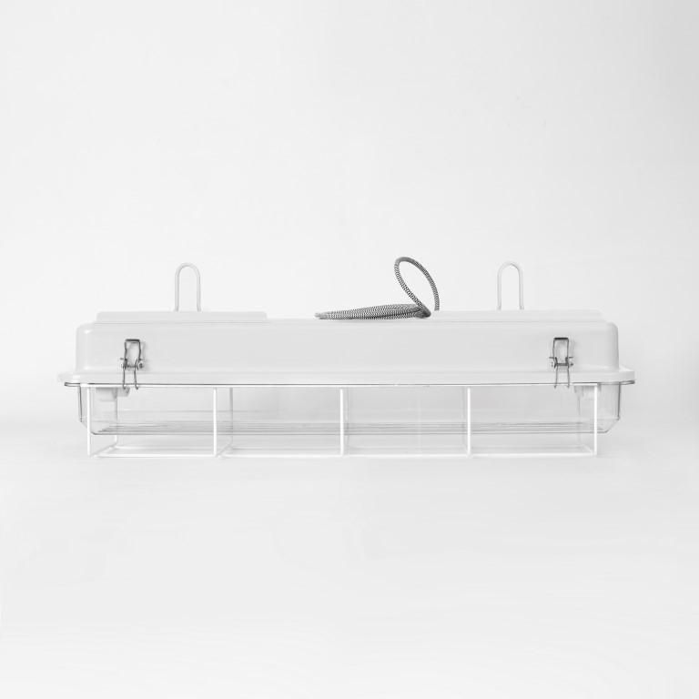 2 FT-Käfiglampe Industrielles Streifenlicht | Weiß
