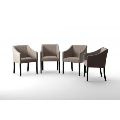4er-Set Esszimmerstühlen Illusion   Beige
