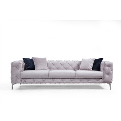 3-Sitzer Sofa Como | Hellgrau