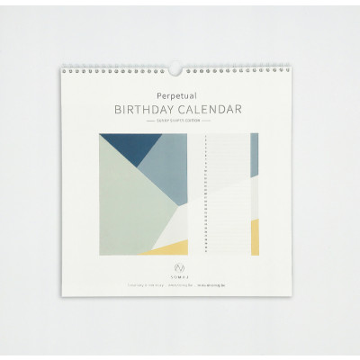 Geburtstagskalender   Sonnige Formen