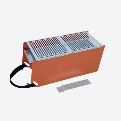 Holzkohle- & Wasser-Tischgrill Yaki   Orange