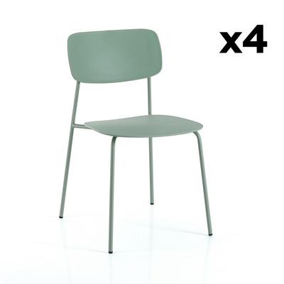 4er Set Stühle Primary I Grün