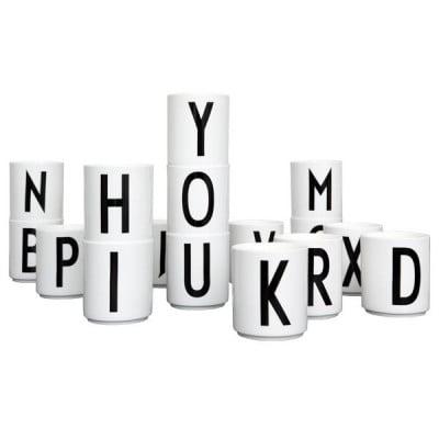 Porcelain Cup with Design Letter