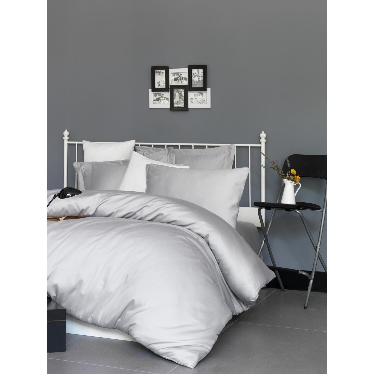 Bettbezug-Set Super King De Light Grey I Hellgrau - 260x220cm