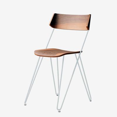 Chair Isben Master | White and Walnut