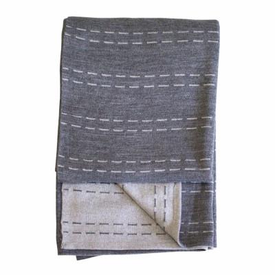 Polku-Decke | Grau & Weiß
