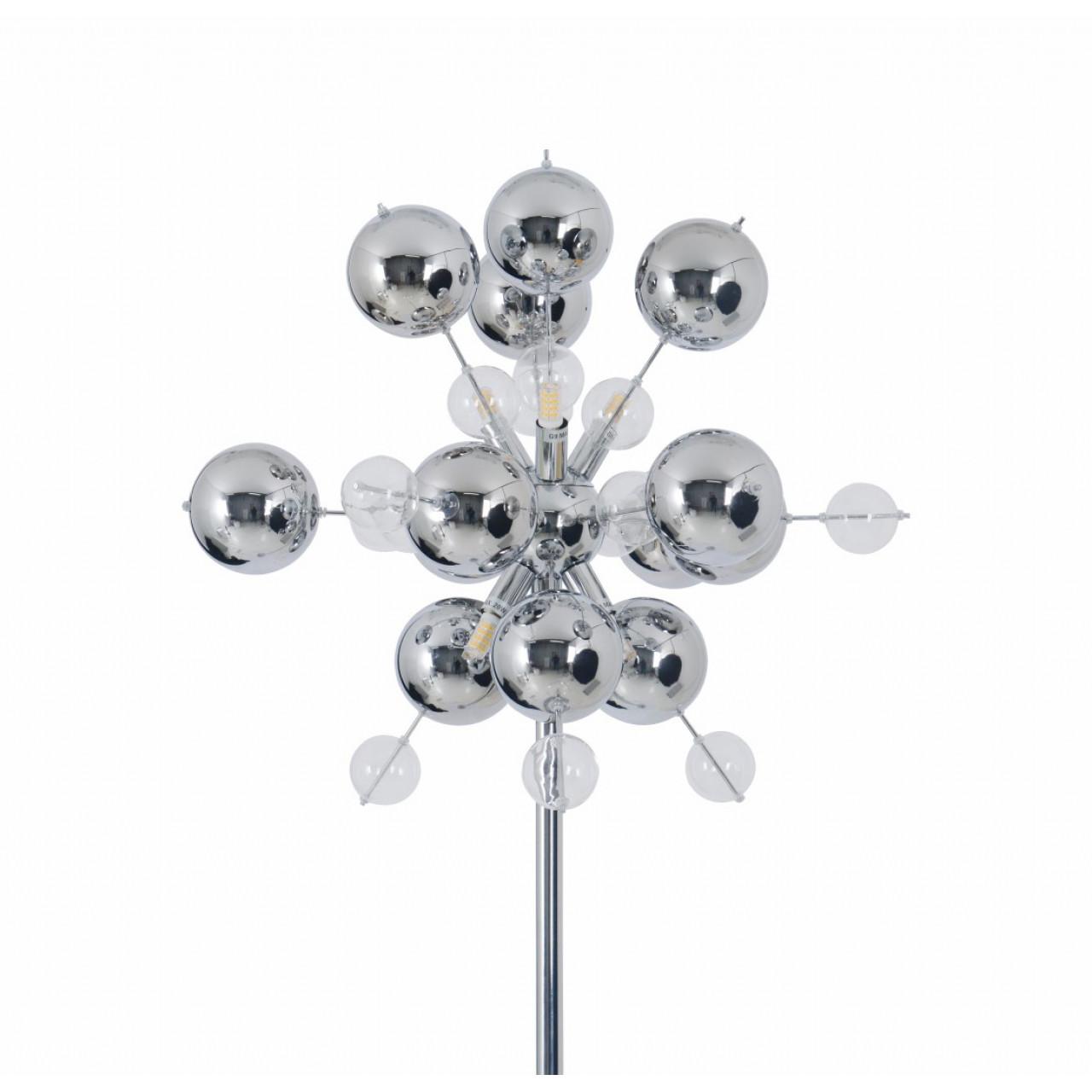 Stehlampen-Explosion   Chrom