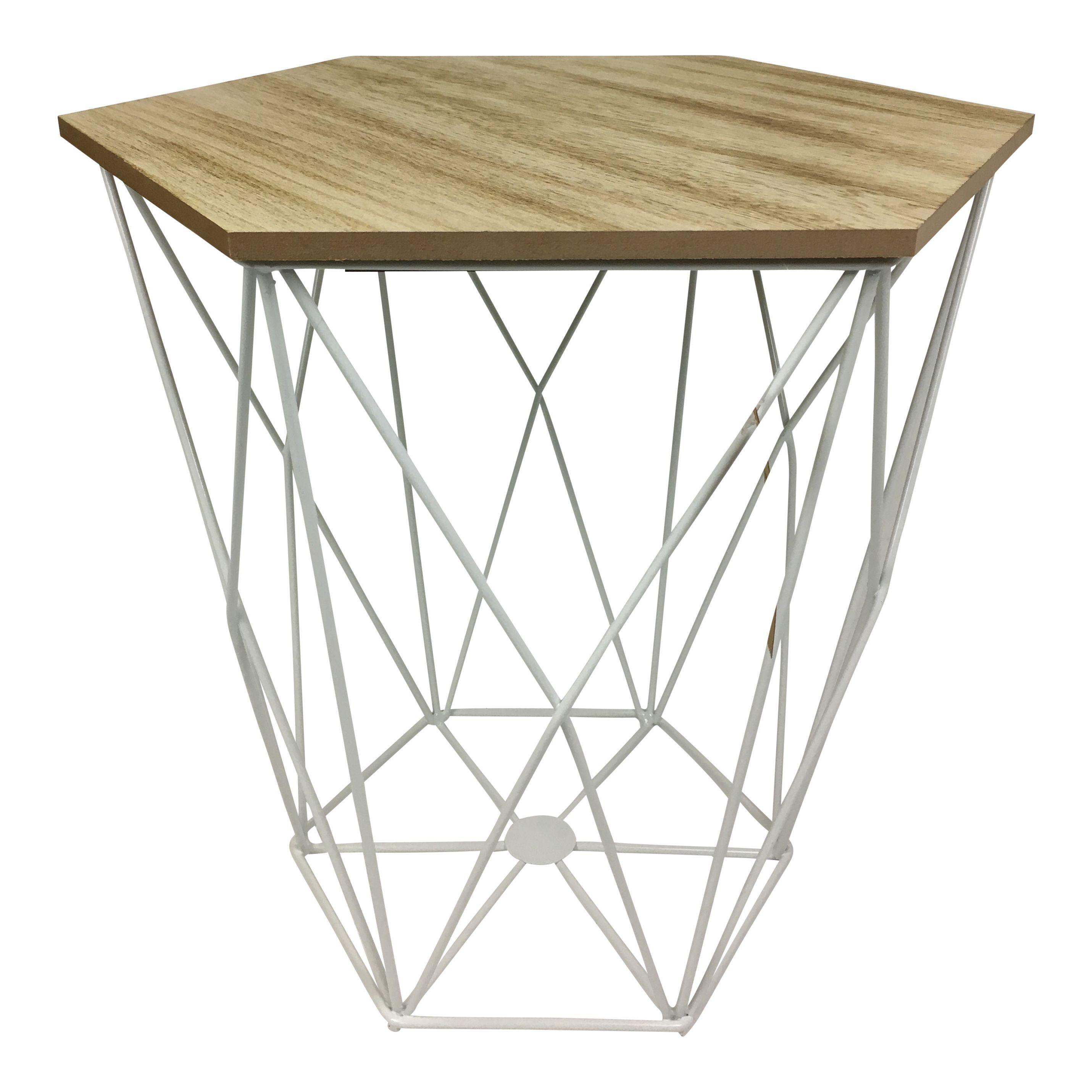 Sidetable Large | Wood / White