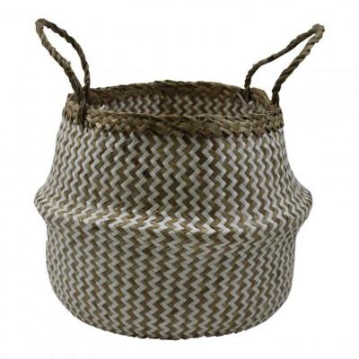 Basket Seagrass | White & Natural