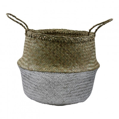Basket Seagrass | Silver & Natural