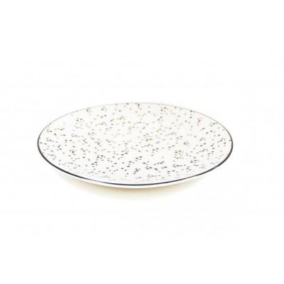 HV Frühstücksbrett Dots Ø 20cm l Weiß