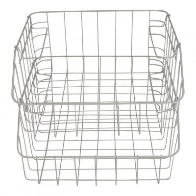 Metal White Baskets   Set of 2