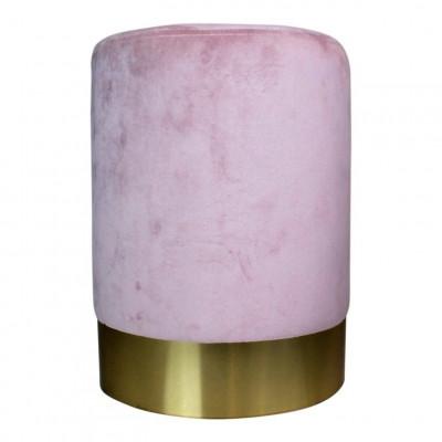 Velvet Pouf   Pink