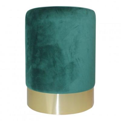 Velvet Pouf   Green