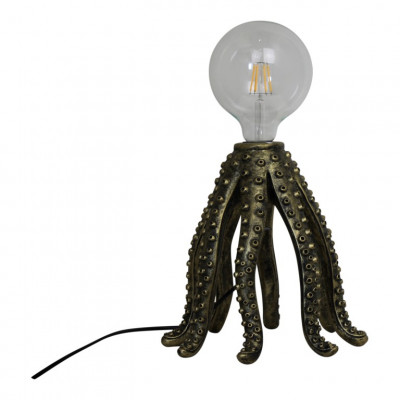 Table Lamp Octopus   Gold