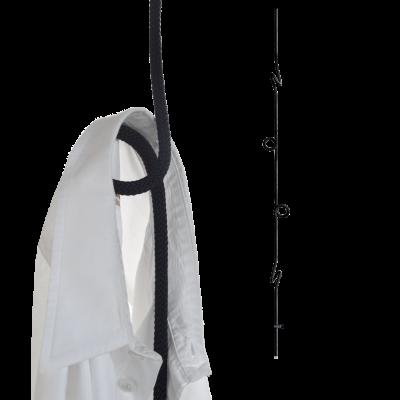 Hängende Garderobe Loop Rope   Schwarz