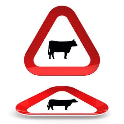 Straßenschild Suppenteller Dreieckig- Tier