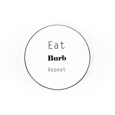 HV Gebäckteller Eat Burb Repeat l Weiß