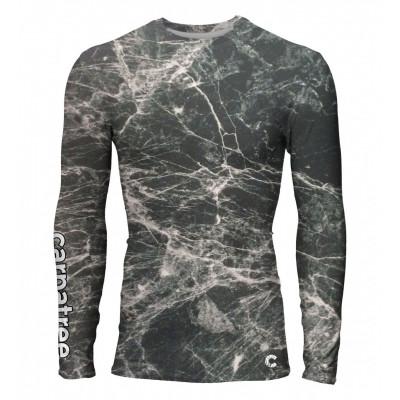 Marble Men Rashguard Longsleeve T-shirt | Black