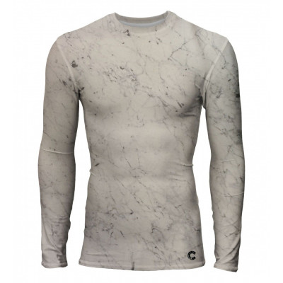 Marble Men Rashguard Longsleeve T-shirt | White