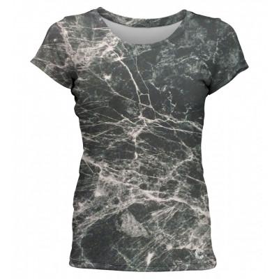 Marble Women T-Shirt | Black